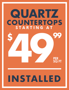 Quartz Countertops starting at 49.99 banner