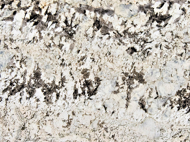 Alaska White granite countertops feature large spots of white and earthy-tones